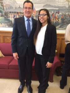 Kelcey and Governor Malloy